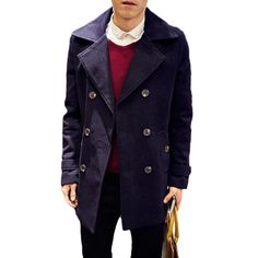 ICYMI: Fashion Men Coat Plus Size Double Braeasted Long Sleeved Korean Trend Slim Jacke