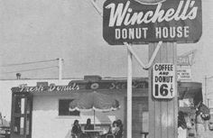 Winchell's Donut Shop on Foothill Blvd.  Sunland, California. A good place to hang out.