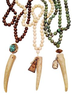 Antler Tip Necklace Collection by Molly Jane Designs