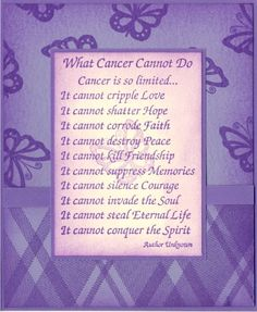 Encouraging Words through the fight of Cancer