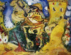 The Athenaeum - Landscape at Cagnes (La Gaude) (Chaim Soutine - ) Centre Pompidou Paris, Chaim Soutine, Amedeo Modigliani, Marc Chagall, Classic Paintings, Canvas Signs, Rembrandt, French Artists, Gravure