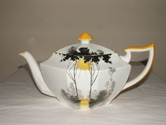 shelley art deco queen anne teapot