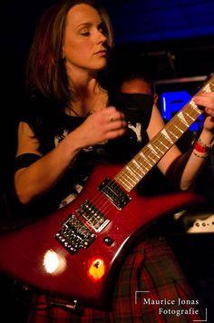 Nox Aeterna - Debbie with her Jackson Guitar