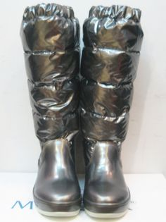 Moncler Nible Quilted Tall Vysoké Boty Silver