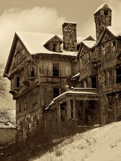 """I doubt when the owner built this place as a luxury hotel he ever pictured it like this. He probably never thought words like """"abandoned"""" """"ruined"""" and """"haunted"""" would describe his Halcyon Hall."""