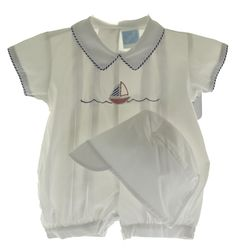 Hiccups Childrens Boutique - Willbeth Baby Boys White