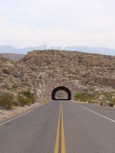 The Rio Grande Tunnel in Big Bend National Park was built in 1959.  This iconic tunnel is located two miles north of Rio Grande Village.  It was the first highway tunnel built in the state of Texas.