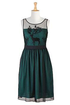 I <3 this Illusion deer embellished tulle dress from eShakti
