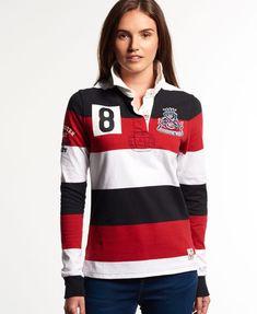 fbd0ea877d superdry télikabát, Outlet Online Shop Superdry Dámske Gloucester Rugby  Shirt Hoop Stripe Cherry'S Superdry ,