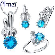Almei Fashion Rhinestone Wedding Jewelry Sets for Women African Beads Jewelry Joyeria Conjuntos Parure Bijoux Femme 2016 T225