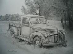 pencil drawings of old trucks - Yahoo Search Results
