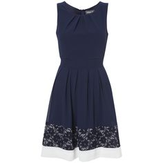 Just bought this dress today, love it! Navy with lace and white trim by Apricot.