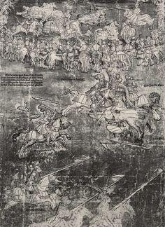 Artist: Breu, Jörg d. Ä., Title: Die Belehnung König Ferdinands mit den österreichischen Erblanden, Detail [9/23], Date: 1530