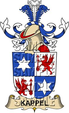 Kappel Family Crest apparel, Kappel Coat of Arms gifts