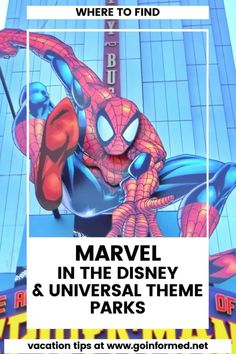 Find out where you can find Marvel experiences at Disney and Universal. At GoInformed.net/68 Disneyland Tips, Disney Tips, Attractions In Orlando, Universal Parks, Orlando Theme Parks, Walt Disney World Vacations, Marvel Comic Books, Disney Theme, Amazing Adventures