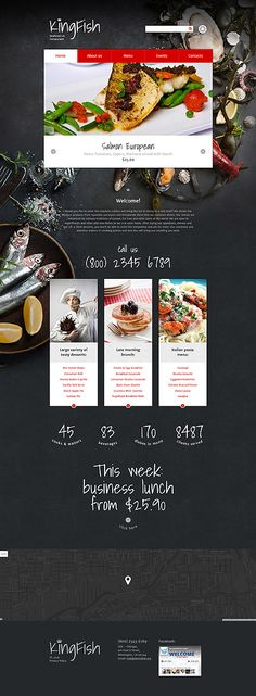 Seafood Restaurant #Drupal #template. #themes #business #responsive