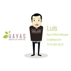 Luis - Social Media Manager #equipo #hayas #madrid