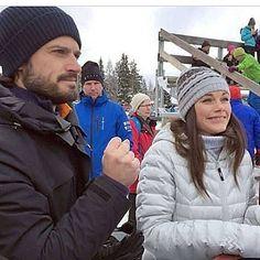 Carl Philip and Sofia in Dalarna today, at Vasaloppet #prinscarlphilip #princecarlphilip #carlphilip #prinsessansofia #princesssofia #sofia #sweden #swedish #swedishroyals #swedishprince #swedishprincess #swedishroyalfamily #kungliga #kungahuset #kungafamiljen #prince #princess