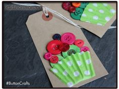 Button Crafts – Button Cupcakes