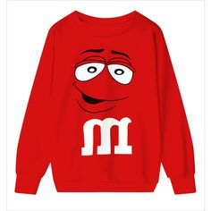 Red M Letter Long Sleeve Loose Sweatshirt 15SS00077-3 ($31) ❤ liked on Polyvore featuring tops, hoodies, sweatshirts, black, print sweatshirt, red hoodies, black sweatshirt hoodie, red hooded sweatshirt and black hoodies