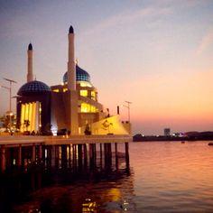 Mosque at Losari Beach, Makassar