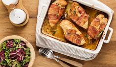 Frango recheado com mascarpone, ervas e bacon   Chef Online