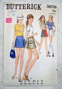 Vintage sewing pattern Butterick 5676
