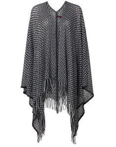 Þessi er eiguleg og flott! NANNO poncho black | Scarves | Scarves | Accessories | INDISKA Shop Online