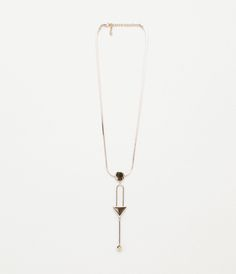 ZARA - COLLECTION AW15 - LONG NECKLACE WITH GEOMETRICAL PIECES