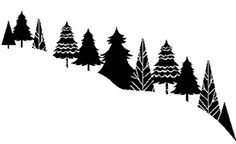 Tree Scape by Impress Rubber Stamps