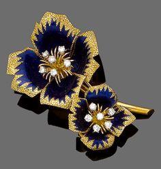 Cartier Flower Brooch