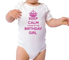 Keep Calm Birthday Girl, Personalized Birthday Shirt, 1st Birthday Girl Outfit, Girls 1st Birthday Shirt, Birthday Girl Shirt by BabyBirthdayTee on Etsy https://www.etsy.com/listing/206468817/keep-calm-birthday-girl-personalized