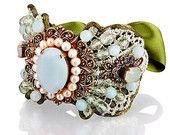 Ready To Ship-- Bridal Jewelry-- Rhinestone Wedding Bracelet--Ready To Ship- BG00803