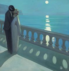 Romance under the full moon (1920) by unattributed artist (poboh)