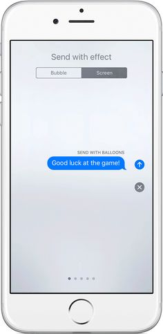 With iOS 10 and later, you can make your iMessages more expressive. Add  effects to your message bubbles, send animations that take over the entire  screen, ...