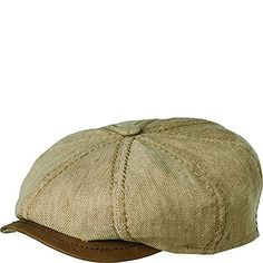 3c24f5145e8 Stetson Terell Linen Cap with Leather Peak NATURALXXL     Be sure to check  out this awesome product.