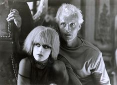 """Rutger Hauer and Daryl Hannah in """"Blade Runner"""", Ridley Scott, 1982 I've seen things you people wouldn't believe. Attack ships on fire off the shoulder of Orion. I watched C-beams glitter in the. Daryl Hannah, Film Blade Runner, Blade Runner 2049, Dutch Actors, The Hitcher, The Poseidon Adventure, Famous Dialogues, Rutger Hauer, Believe"""