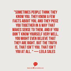 — Leila Sales