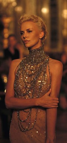 Don't be afraid to be-dazzle yourself with jewelry! Just balance it out with chic and simple hair and makeup.