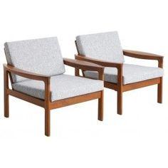 Paire de fauteuils danois en teck - années 50