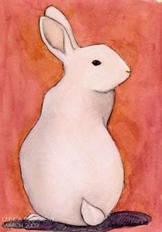 """Violet"" - Original mixed media bunny rabbit drawing by Ljubica Todorovic. Watercolour, soft pastel and pigment pen. Rabbit Drawing, Rabbit Art, Illustrations, Illustration Art, Rabbit Illustration, Hase Tattoos, Bunny Tattoos, White Rabbits, Bunny Rabbits"