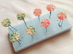 桜のUピン 乾かしてます☆ の画像 つまみ細工 ひなぎく 「花夢月比売」