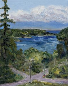 From Felix Jack Road Mayne Island 14 x 11 oil on canvas by Terrill Welch. Canadian landscape painting. Plein air. Art