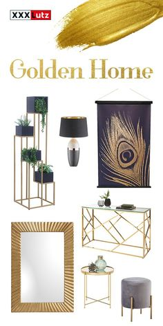 Sommerkollektion 2020, Wohninspiration, Stilthema Glam Look, Elegant, Modern, Design, Ideas, Home, Black Gold, Ad Home, Homes