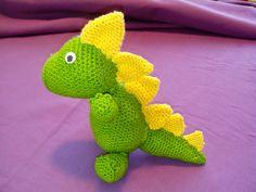 Tutorial amigurumi dinosaurio : Crochet barney barney amigurumi designed by handmadebyrouz