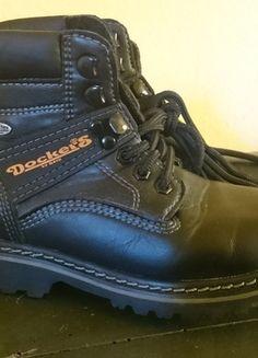 Kaufe meinen Artikel bei #Mamikreisel http://www.mamikreisel.de/kleidung-fur-jungs/stiefel/20828835-dockers-schwarze-schnur-boots-gr-31