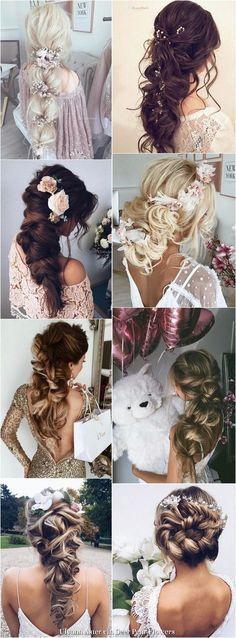 Ulyana Aster Long Wedding Hairstyles Inspiration - www.ulyanaaster.com | Deer Pearl Flowers #weddinghairstyles