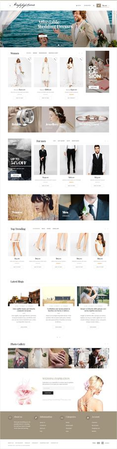 Happy Time is a creative #WordPress theme for #Wedding & #Fashion #store designers website with 5 stunning homepage layouts download now➩ https://themeforest.net/item/-happytime-wedding-woocommerce-wordpress-theme/16891332?ref=Datasata