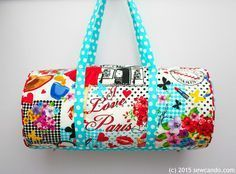 Sew Can Do: Ooh La La! It's The Bon Voyage Duffel Bag Tutorial