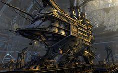 Sci Fi - Steampunk  - Ship - Vehicle - Sci Fi Wallpaper